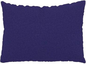 Coussin Bleu Encre - 48x65 cm - Housse en Laine. Coussin de canapé moelleux