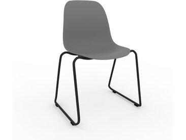 Chaise en bois gris de 49 x 82 x 58 cm au design unique, configurable