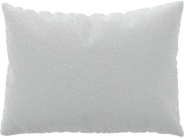Coussin Blanc - 48x65 cm - Housse en Textile tissé. Coussin de canapé moelleux