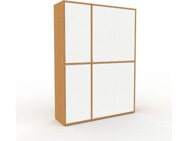 Buffet - Chêne, pièce modulable, enfilade, avec porte Blanc - 116 x 157 x 35 cm