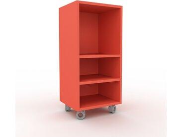 Range CD - rouge, design contemporain, meuble pour vinyles, DVD - 41 x 87 x 35 cm, personnalisable