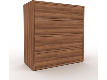 Commode - Noyer, pièce de caractère, sophistiquée, avec tiroir Noyer - 77 x 80 x 35 cm, personnalisable