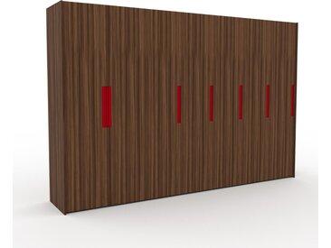 Dressing - Noyer, design, armoire penderie pour chambre ou entrée, à portes battantes - 354 x 233 x 62 cm, modulable
