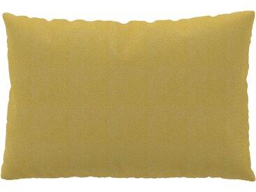 Coussin Jaune Moutarde - 40x60 cm - Housse en Tissu grossier. Coussin de canapé moelleux