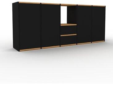 Enfilade - Noir, design, buffet, avec porte Noir et tiroir Noir - 195 x 80 x 35 cm