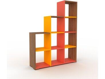 Range CD - Noyer, design contemporain, meuble pour vinyles, DVD - 118 x 158 x 35 cm, personnalisable