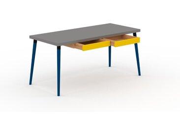 Table scandinave - Gris, style nordique, plateau de table épuré - 160 x 75 x 70 cm, personnalisable