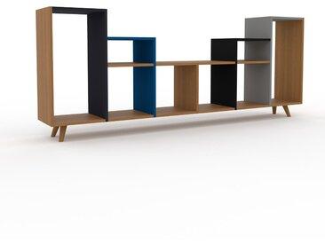 Range CD - Chêne, design contemporain, meuble pour vinyles, DVD - 233 x 91 x 35 cm, personnalisable