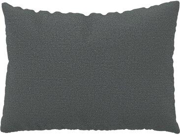 Coussin Gris Pierre - 48x65 cm - Housse en Textile tissé. Coussin de canapé moelleux