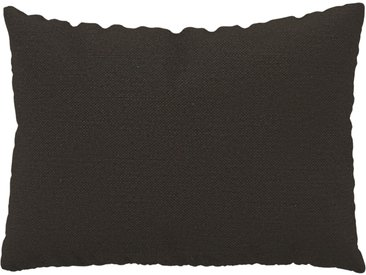Coussin Brun Chocolat - 48x65 cm - Housse en Textile tissé. Coussin de canapé moelleux