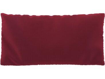 Coussin Rouge Corail - 40x80 cm - Housse en Velours. Coussin de canapé moelleux