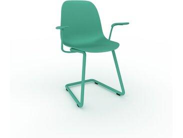 Chaise cantilever Vert d'eau de 49 x 82 x 62 cm au design unique, configurable