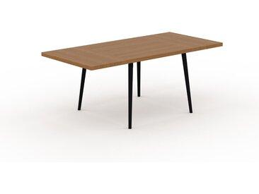 Table à manger - Chêne, design scandinave, pour salle à manger ou cuisine nordique, table extensible à rallonge - 190 x 75 x 90 cm