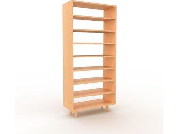 Bibliothèque - Hêtre, design, étagère pour livres, sophistiquée, ouverte et fonctionelle - 77 x 168 x 35 cm, personnalisable