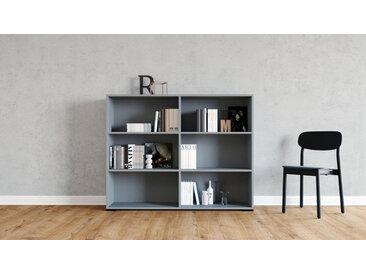 Système d'étagère - Gris, design contemporain, rangements de qualité, modulables - 152 x 120 x 35 cm, personnalisable