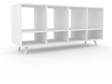 Range CD - Blanc, design contemporain, meuble pour vinyles, DVD - 156 x 72 x 47 cm, personnalisable