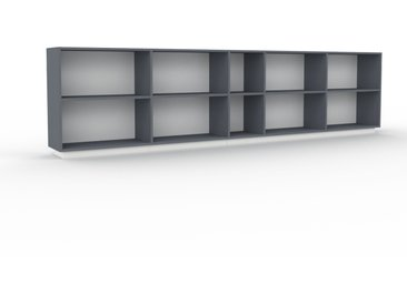 Bibliothèque - Anthracite, design, étagère pour livres, sophistiquée, ouverte et fonctionelle - 339 x 85 x 35 cm, personnalisable