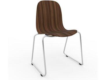 Chaise en bois Noyer de 49 x 83 x 58 cm au design unique, configurable