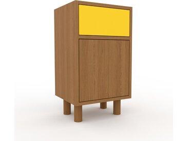 Table de chevet - Chêne, moderne, table de nuit, avec porte Chênes et tiroir Jaune - 41 x 72 x 35 cm
