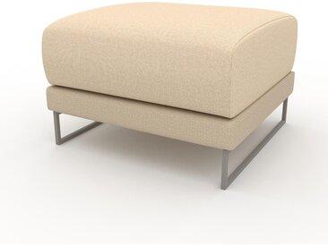 Pouf - Beige Crème, design épuré, 60 x 42 x 60 cm, modulable