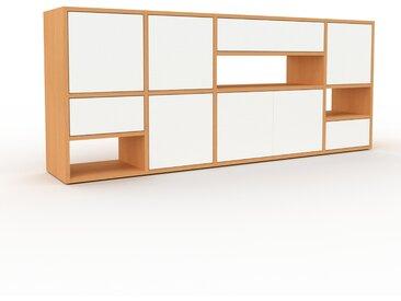 Enfilade - Hêtre, design, buffet, avec porte Blanc et tiroir Blanc - 193 x 80 x 35 cm