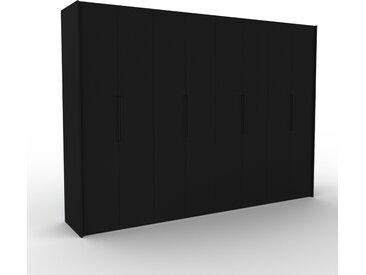 Dressing - noir, design, armoire penderie pour chambre ou entrée, à portes battantes - 324 x 233 x 62 cm, modulable