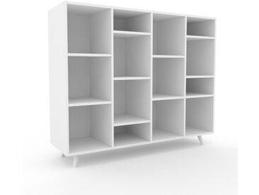 Système d'étagère - Blanc, design contemporain, rangements de qualité, modulables - 156 x 130 x 47 cm, personnalisable