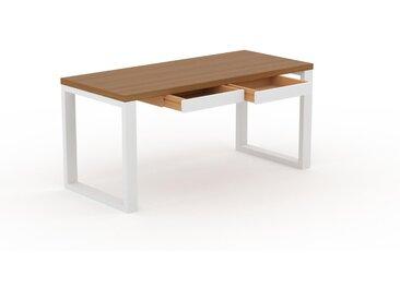 Table - Chêne, contemporaine, haute qualité, avec tiroir Blanc - 160 x 75 x 70 cm, personnalisable