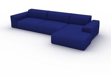 Canapé convertible - Bleu Encre, design arrondi, canapé lit confortable, moelleux et lit confortable - 345 x 72 x 168 cm, modulable