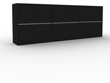 Buffet - Noir, pièce modulable, enfilade, avec porte Noir - 226 x 80 x 35 cm