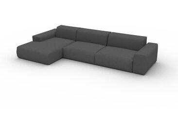 Canapé convertible - Gris Gravier, design arrondi, canapé lit confortable, moelleux et lit confortable - 345 x 72 x 168 cm, modulable