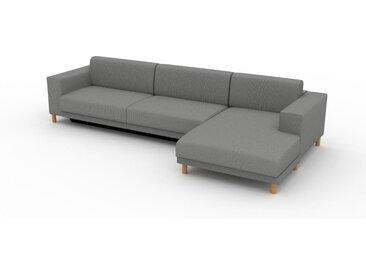 Canapé convertible - Blanc Granite, design épuré, canapé lit confortable, confortable avec coffre de rangement - 328 x 75 x 162 cm, modulable