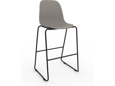 Chaise de bar Gris sable de 49 x 112 x 58 cm au design unique, configurable