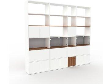 Vitrine - Blanc, design, pour documents, avec porte Blanc et tiroir Blanc - 265 x 233 x 35 cm