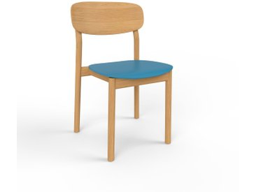 Chaise de salle à manger bleu de 52 x 82 x 49 cm au design unique, configurable