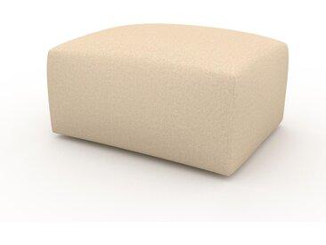 Pouf - Beige crème, design épuré, 80 x 42 x 64 cm, modulable