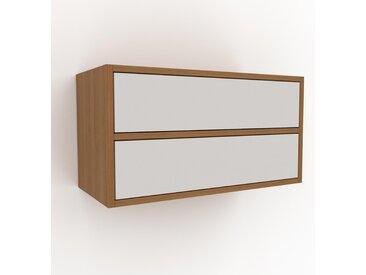 Étagère murale - Blanc, design flexible, placard, avec tiroir Blanc - 77 x 41 x 35 cm, configurable
