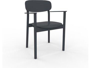 Chaise avec accoudoirs anthracite de 52 x 82 x 58 cm au design unique, configurable
