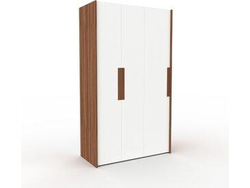 Dressing - Blanc, design, armoire penderie pour chambre ou entrée, à portes battantes - 134 x 233 x 62 cm, modulable