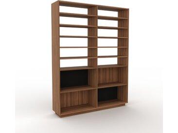 Bibliothèque - Noyer, design, étagère pour livres, sophistiquée, ouverte et fonctionelle - 152 x 200 x 35 cm, personnalisable