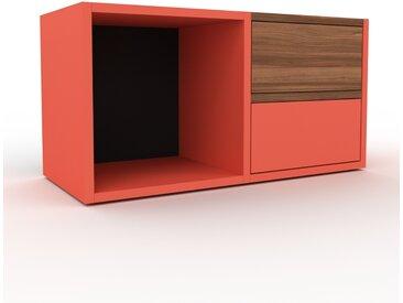 Buffet bas - Rouge, modèle tendance, rangements bas sophistiqué, avec tiroir Rouge - 79 x 41 x 35 cm, modulable