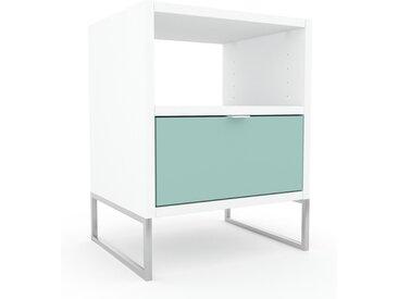 Table de chevet - Vert céladon, contemporaine, table de nuit, avec tiroir Vert céladon - 41 x 53 x 35 cm, modulable