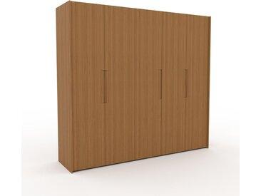 Dressing - Chêne, design, armoire penderie pour chambre ou entrée, à portes battantes - 254 x 233 x 62 cm, modulable