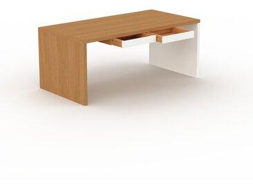 Bureau - Chêne, moderne, table de travail, avec tiroir Blanc - 180 x 75 x 90 cm, modulable