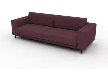 Canapé convertible - Rouge Mûre, design épuré, canapé lit confortable, confortable avec coffre de rangement - 248 x 75 x 98 cm, modulable