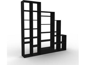 Bibliothèque - Noir, modèle tendance, rangements pour livres, avec tiroir Noir - 231 x 233 x 35 cm, modulable