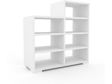 Range CD - Blanc, design contemporain, meuble pour vinyles, DVD - 79 x 81 x 35 cm, personnalisable