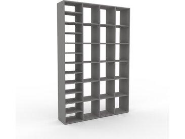 Bibliothèque - Gris, design, étagère pour livres, sophistiquée, ouverte et fonctionelle - 156 x 233 x 35 cm, personnalisable