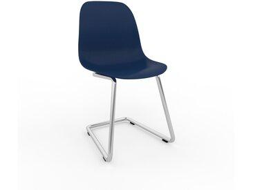 Chaise cantilever Bleu nuit de 49 x 82 x 44 cm au design unique, configurable