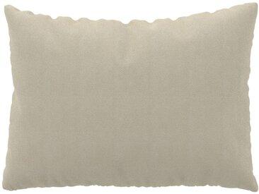Coussin Beige Crème - 48x65 cm - Housse en Tissu grossier. Coussin de canapé moelleux